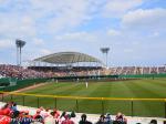コザしんきんスタジアムでオープン戦